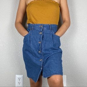 🌻Denim Eddie Bauer button up skirt